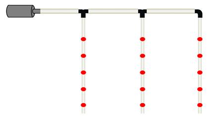 G instalaci n del sistema de riego para producir fvh en un for Aspersores para riego de jardin